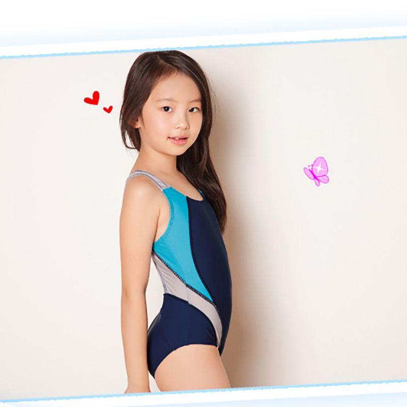 High Quality Kids Swimmer girls bathing suit infantil swimwear children one pieces lovely beach pool girl swimsuit