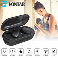 Newest Mini Wireless Earbuds True Wireless Earphone Bluetooth Portable Headphone With Charging Box Handsfree Touch Control
