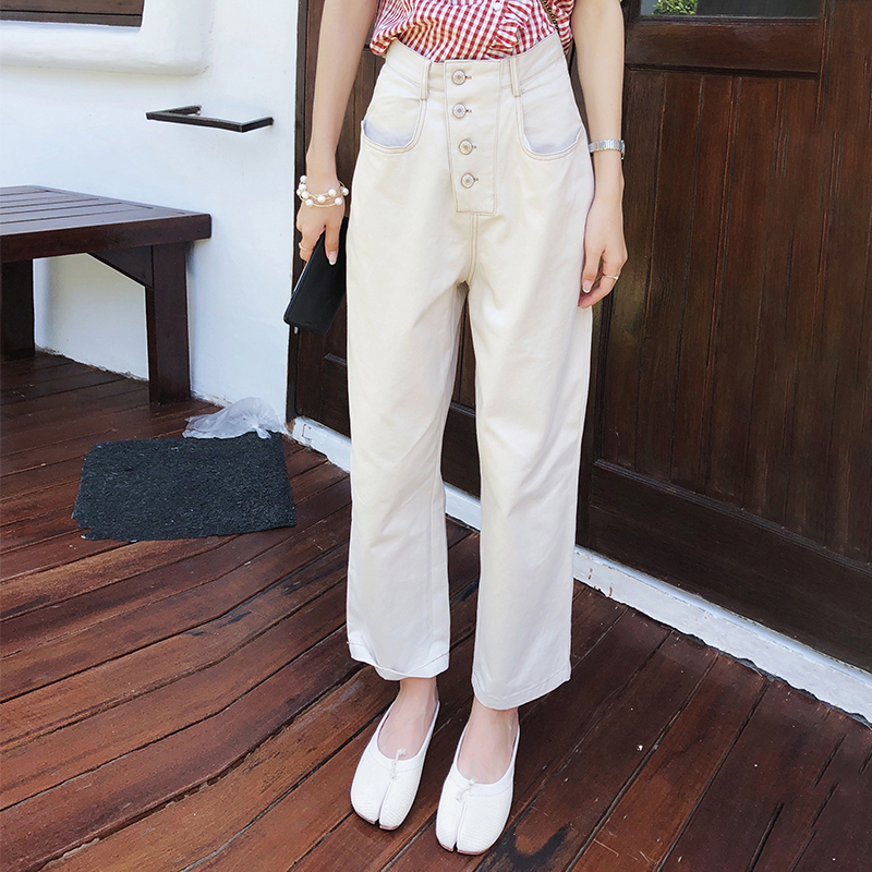 Mishow 2019 Women Casual Loose Wide Leg Pants Womens Elegant Fashion Preppy Style Trousers Female Pure Color Females MX19B2582