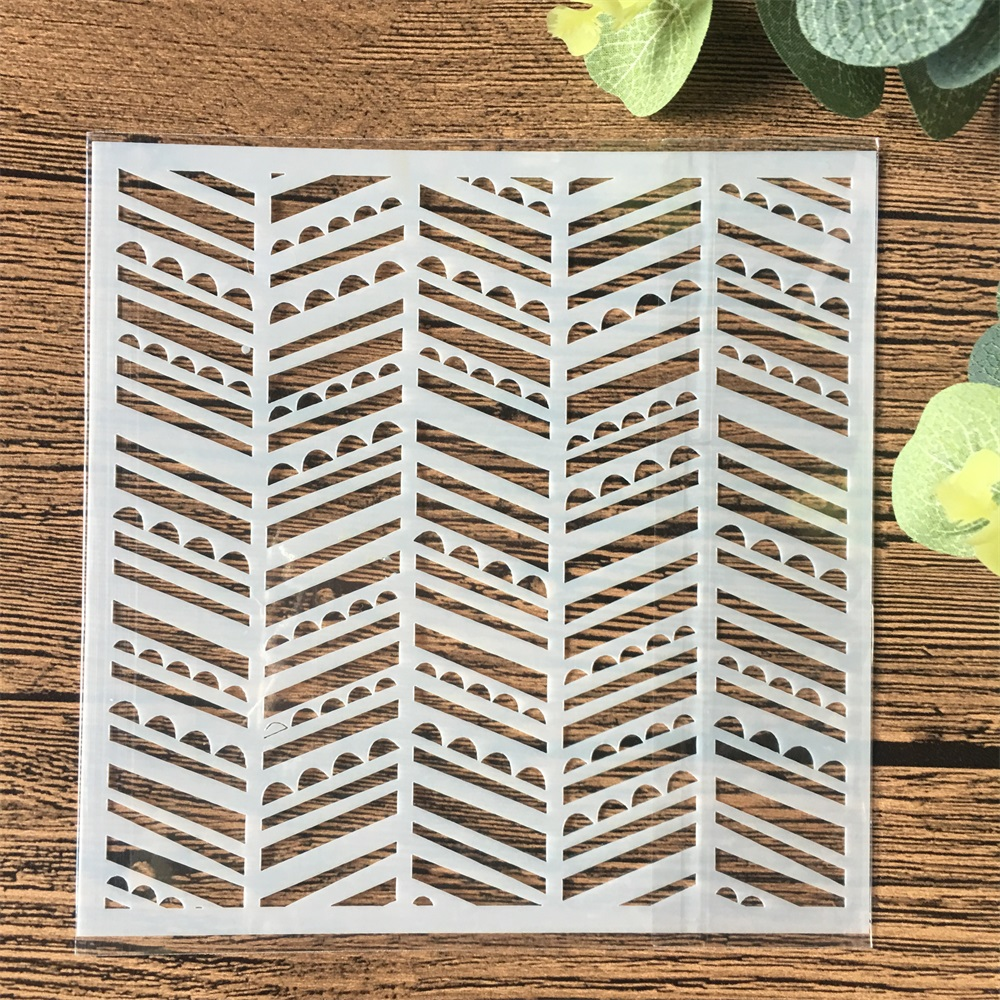 13cm Wavy DIY Craft Layering Stencils Wall Painting Scrapbooking Stamping Embossing Album Card Template