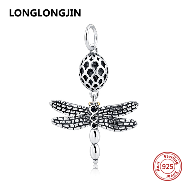New listing 925 Sterling Silver Dragonfly Beads Fit Original Pandora Charms Bracelet Pendant DIY Fashion Jewelry Gifts for women