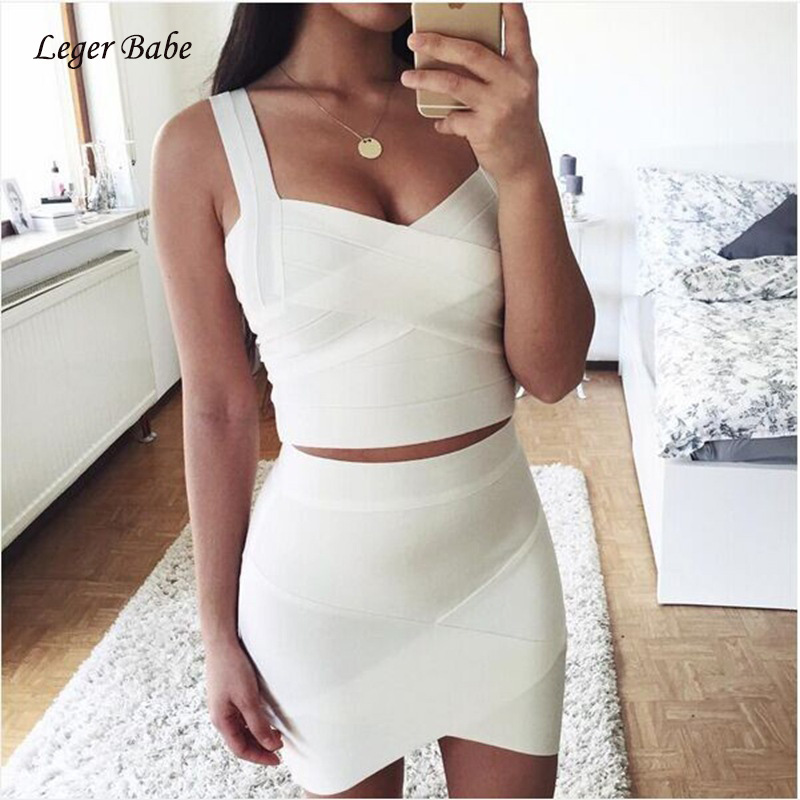 Women Bandage Skirt 2020 New Arrivals Sexy Mini Nightclub Party Skirts Rayon Summer Knitted Bodycon Clothes White Red Black