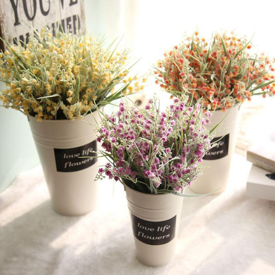 1 Branch Charming Artificial Flowers Leaves Fake Milan Waxberry Flower Wedding Decoration Handmake Home DIY Stamen Wreath