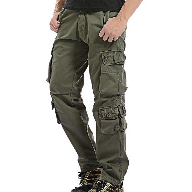 2018 Marke Mens Fashion Military Cargo Pants Multi-taschen Baggy Männer Hosen Casual Hosen Overalls Armee Verdicken Hosen Jogger