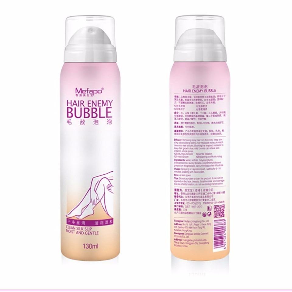 Bubble Natural Painless Hair Removal Cream For Men Women Permanent Body Arm Leg Hair Remover Spray Gentle Bikini