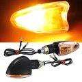 Qook 2 unidades de la motocicleta turn signal light bulb indicador amarillo ámbar bombilla 12 v 2 w