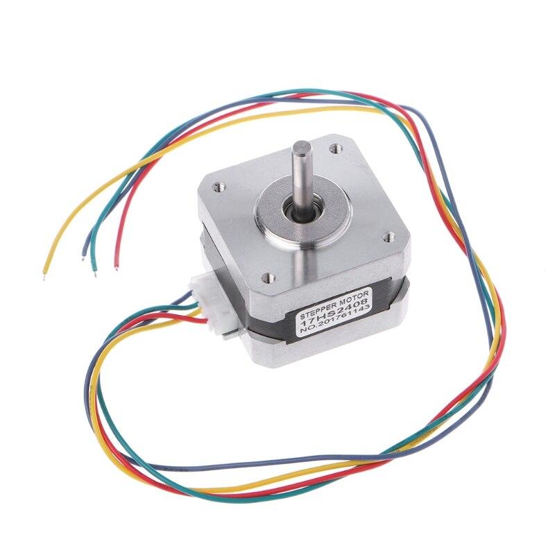 17HS2408 0.6A 12Ncm 17 Bipolar Stepper Motor 4-lead CNC 3D Printer 4 Wire