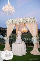 Бесплатная доставка, 3 м * 3 м * 3 м Свадебные хупы площади полог Пелерина с стоят трубы, свадебные занавес, свадебные украшения