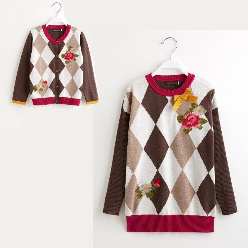 Catimini Free Shipping 2014 autumn Catimini girl printed long sleeve knitwear cotton tee children s puff