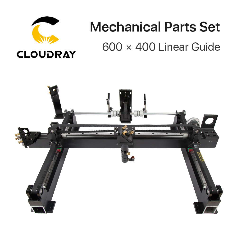 Mechanical Parts Set 600mm*400mm Single Head Laser Kits Spare Parts For DIY CO2 Laser 6040 CO2 Laser Engraving Cutting Machine