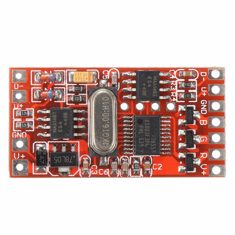 72W 6A Dmx512 Decoder Board Codering Module Controller 3 Channel For Rgb Led Stage Light Spot Lights Dc12-24V