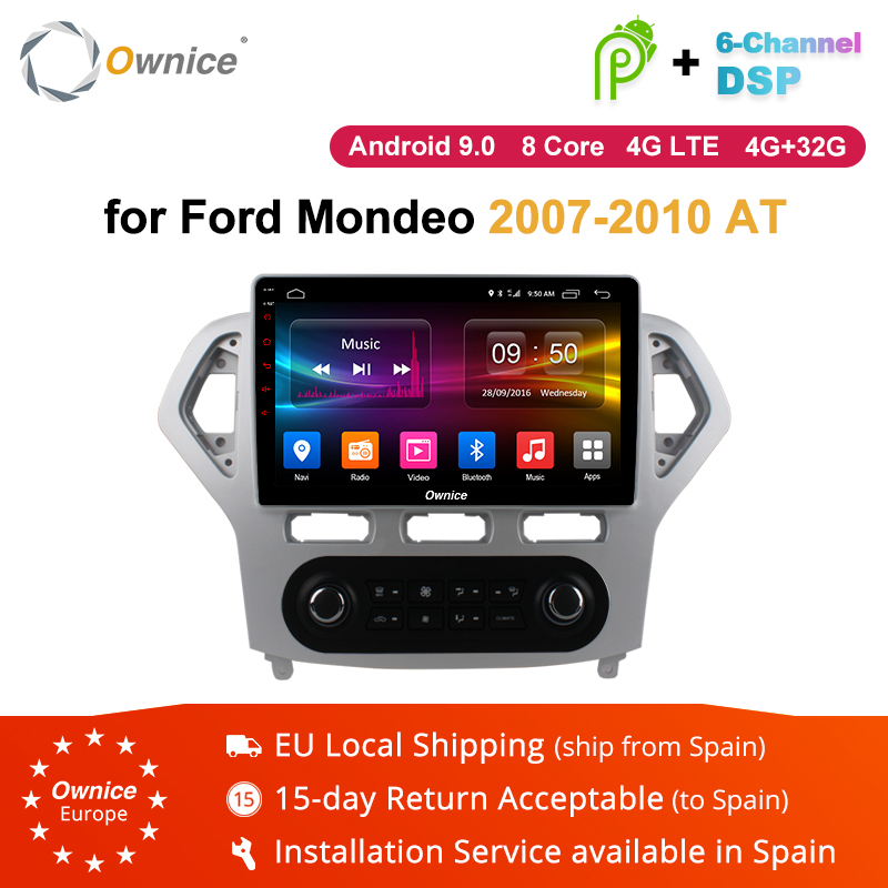Ownice K1 K2 K3 Android 8.1 2G RAM 8 Core 10.1 Car DVD GPS Navigation Radio Player for Ford Mondeo 2007 2010 4G LTE DAB+ DVR