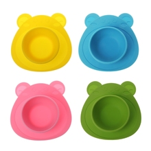 1 Set Kids Baby Plate Silicone Dishes Bowl Feeding Food Pratos Tray Dishes For Toddler Baby Bowl