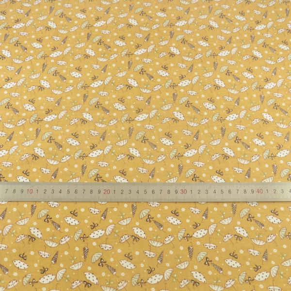 100% bawełna ziemi żółta tkanina piękny parasol wzory Patchwork tekstylia domowe zwykły Scrapbooking dekoracji Tela szycia Telas