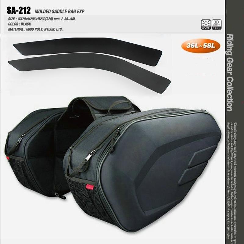 One Pair Motorcycle Waterproof Saddlebags Helmet saddle bags Moto Side Bag Tail Luggage Suitcase plastic rain