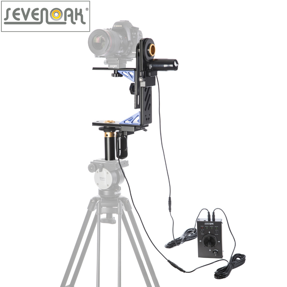 bilder für Sevenoak sk-ech04 elektronische 360 panning kippen kopf verdrahtet fernbedienung für canon nikon sony dslr camera camcorder last 10 kg