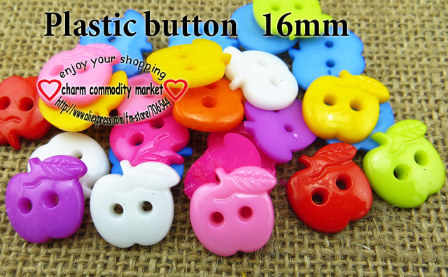 100 ШТ. 12 цветов Окрашенные Пластиковые apple мультфильмы кнопки пальто сапоги пошив одежды аксессуары Р-128