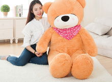 big plush squinting light brown teddy bear toy huge bear doll gift about 160cm