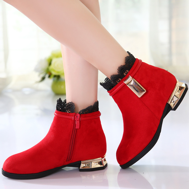 2017 top quolity Autumn and Winter Fashion Boots Childrens Princess Shoes Girls mid-top of the Rome style Lace Boots2017 top quolity Autumn and Winter Fashion Boots Childrens Princess Shoes Girls mid-top of the Rome style Lace Boots