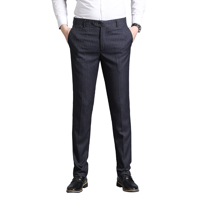 Men Pants Casual Mens Business Male Trousers Classics Mid Weight Straight Full Length,Light Green,29