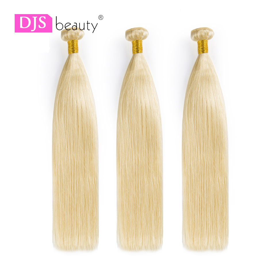 3 Bundles/lot Blonde Bündel Brasilianische Menschliche Haarwebart Bundles Gerade Reines Haar Extensions Djs SchÖnheit