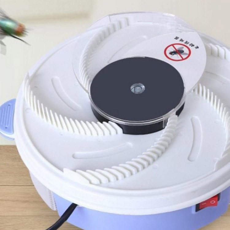2019 NEW Electric Effective Fly Trap Device Pest Repeller With Trapping Food Rotating Plate Home Mosquito Repellent