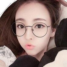 MIZHO New Designer Woman Glasses Optical Frames Metal Round Frame Men Clear lens Eyewear Black Silver Gold Eye