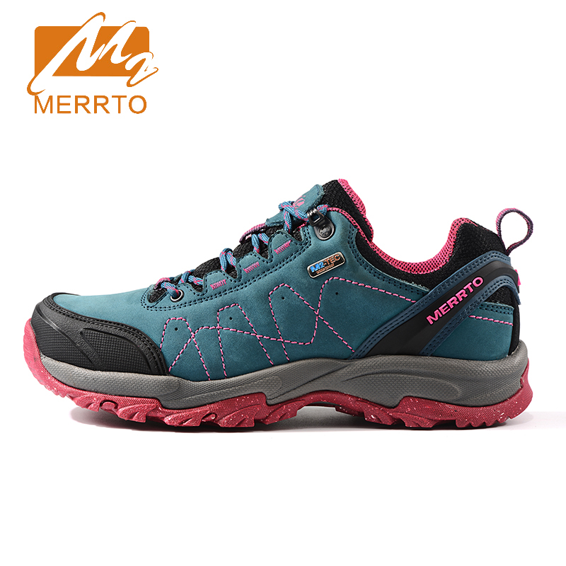 2017 Merrto Womens Walking Sports Shoes Breathable Non-slip Outdoor Footwear Travel Shoes For Women Free Shipping MT18633 waterproof hiking shoes breathable men sneakers lace up anti slip outdoor travel walking sports shoes mans footwear xyd118