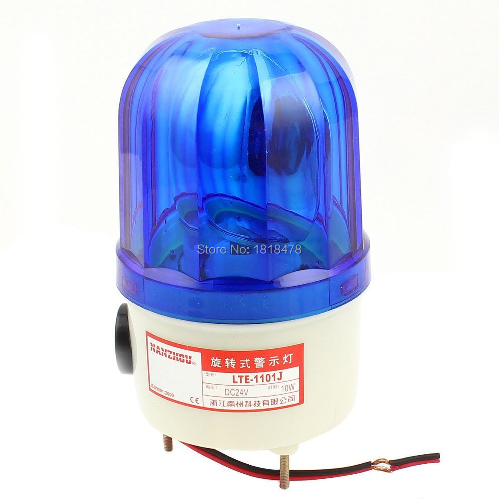 LTE-1101J DC24V 10W Industrial Blue Rotator Rotary Lamp Warning Light Beacon