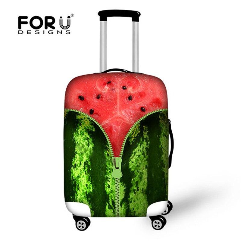 Capa de Bagagem de Viagem Mala de Viagem Bolsa para 18-28 Forudesigns Frutas Capa Elástica Poeira Protetora Polegada Mala 3d