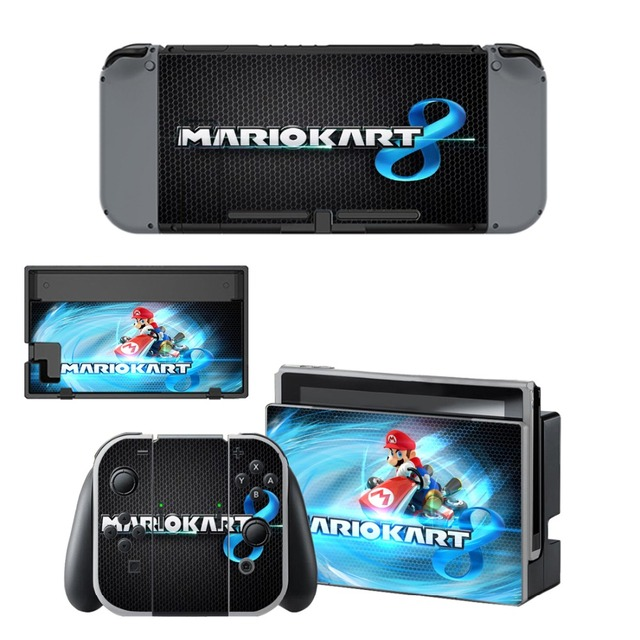 Nintend Switch Skin Sticker Nintendoswitch Skins Mario Kart 8 Decal for Nintendo Switch Console Joy-con Controller Dock Sitckers