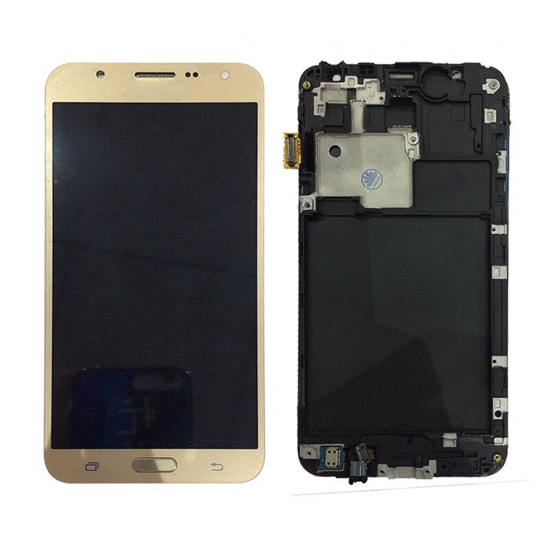 SZHAIYU Adjust Brightness LCD For Samsung Galaxy J7 2015 J700 J700H J70FN J700F J700M LCD Display Touch Screen Digitizer FrameSZHAIYU Adjust Brightness LCD For Samsung Galaxy J7 2015 J700 J700H J70FN J700F J700M LCD Display Touch Screen Digitizer Frame