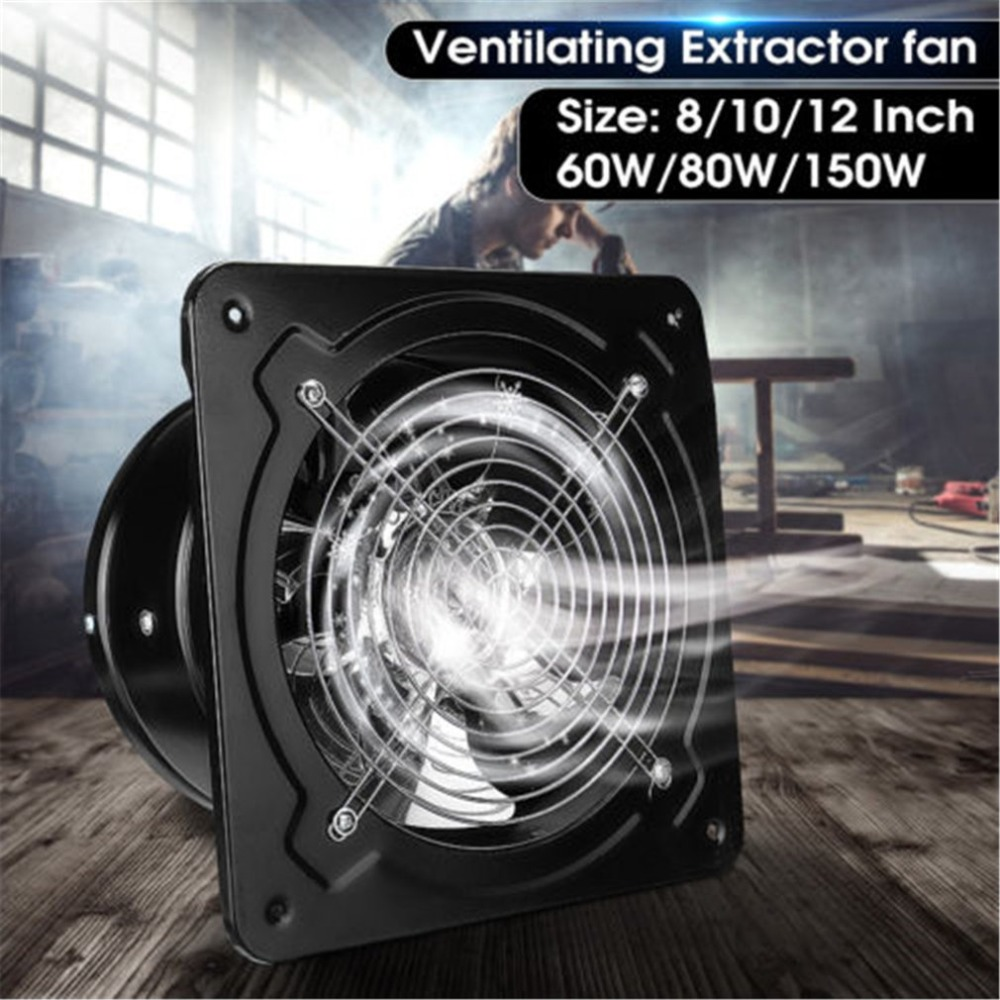 150W 12/'/' Industrial Ventilation Air Blower Extractor Reliable 2800RPM Low Noise