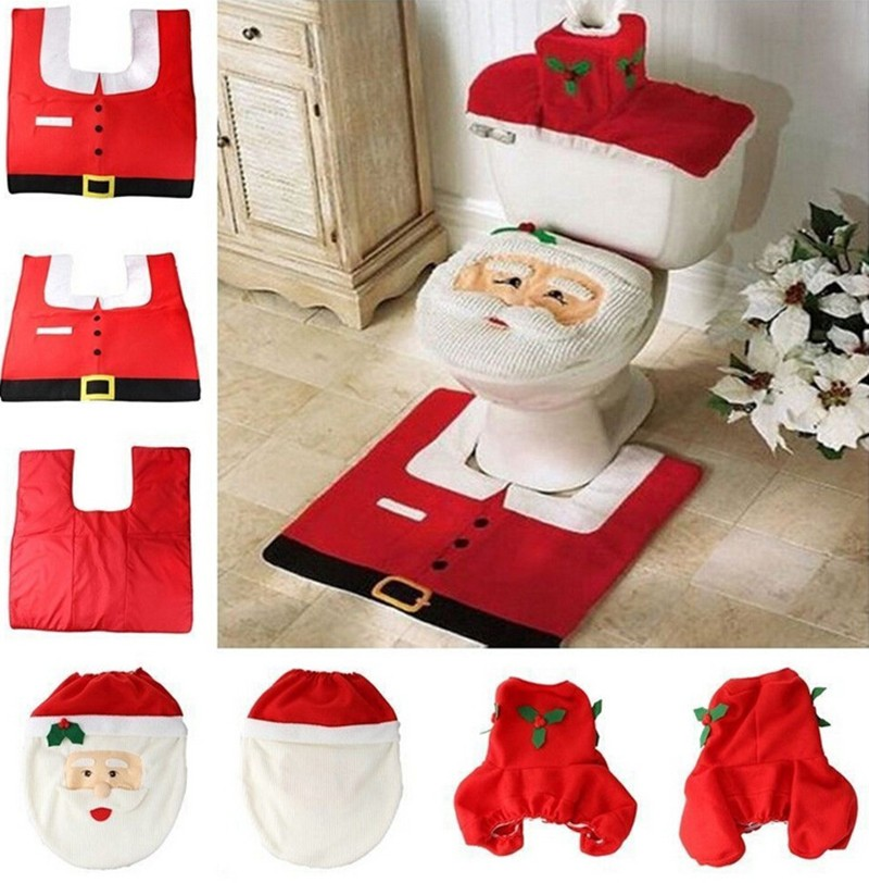 Christmas Decoration Supplies Santa Toilet Seat Cover Paper Towel Set  amp  Rug Bathroom Set China. Online Buy Wholesale christmas paper towels from China christmas