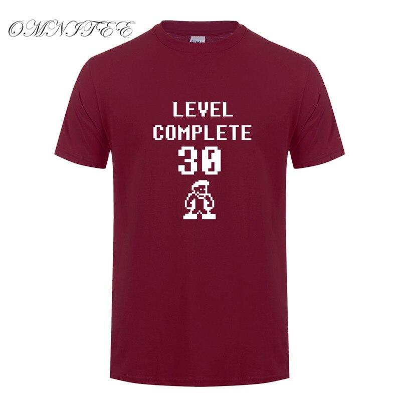 New Level Complete 30 Men T Shirts Summer Short Sleeve O Neck Cotton Birthday Gift Shirt Years Old Man Tshirt OZ 151