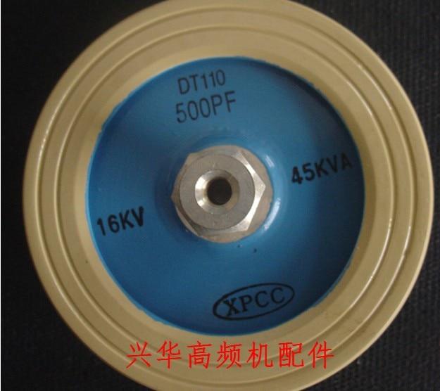 Round ceramics Porcelain high frequency machine new original high voltage XPCC DT110 500PF 16KV 45KVA zvs high frequency induction heating 1800w high frequency machine without tap zvs
