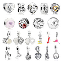Special Offer autumn collection hearts charms 925 sterling silver fine jewelry fit charm bead Bracelet DIY for women gift to mom