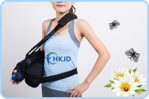 HKJD Medical Shoulder Sling Aid Recovery of Disclocated Shoulder on Post Surgery & Injury Arm Sling with Excercise Ball sale 20 pcs rca right angle connector plug adapters male to female 90 degree elbow