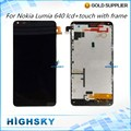 Tested 5 inch Black Replacement N640 Display For Microsoft Nokia Lumia 640 LCD +  Frame With Touch Screen 1 Piece Free Shipping