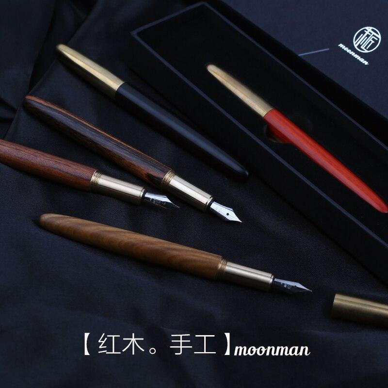 MOONMAN M1 master craftsman handmade mahogany pen red sandalwood pen pen brass pen super craft
