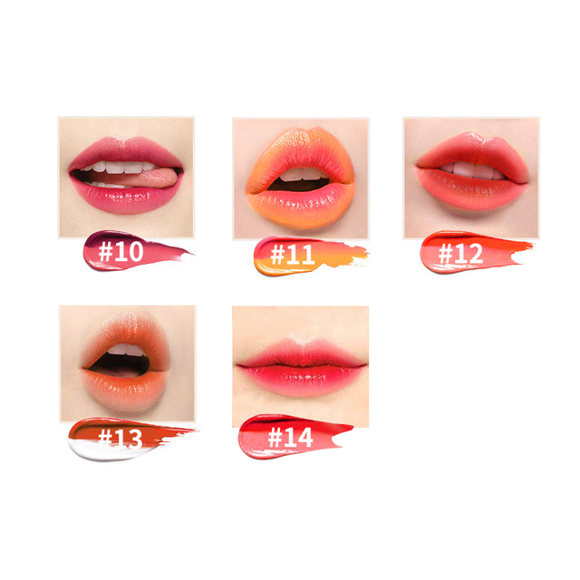 TUTU Double Color Gradient Lipstick 14 Color Korea Makeup Red Lips Cosmetic Make Up Brand Waterproof Glitter Matte Lip Stick Set