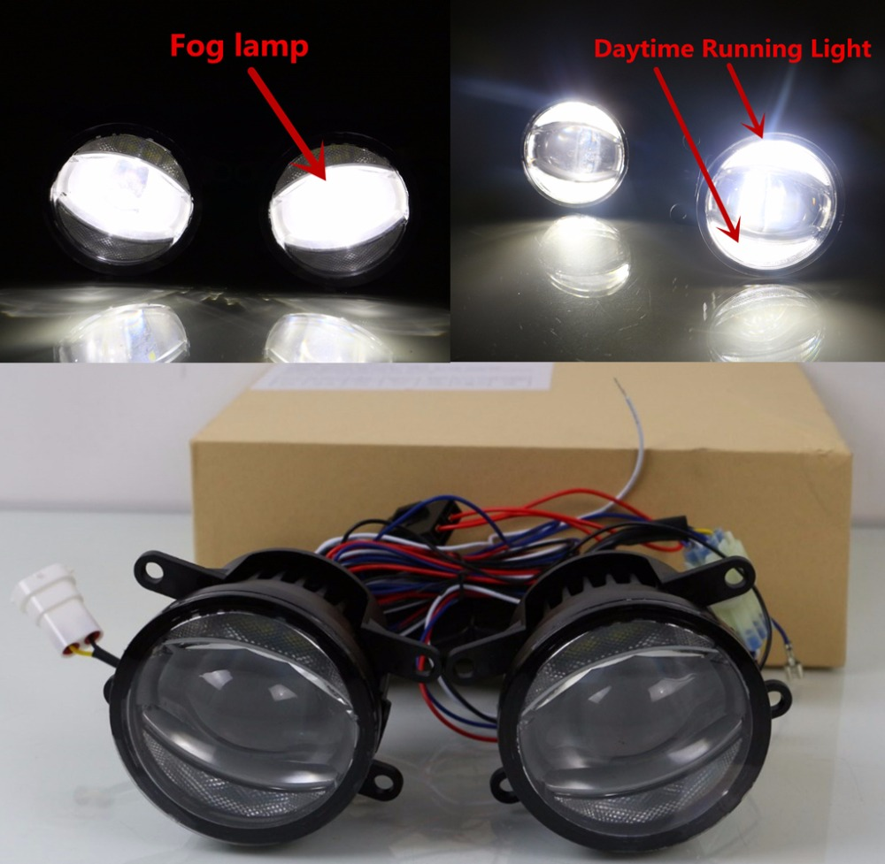 Car flashing safety driving 3 5 inch fog lamp led drl daylight for ford explorer ecosport focus