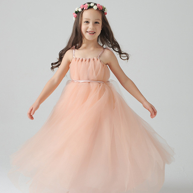 7861ab082 2015 Beautiful Kids Fairy Dress Children Girls Dresses Long Girls Party  Dress Tulle Princess Dress GD0138