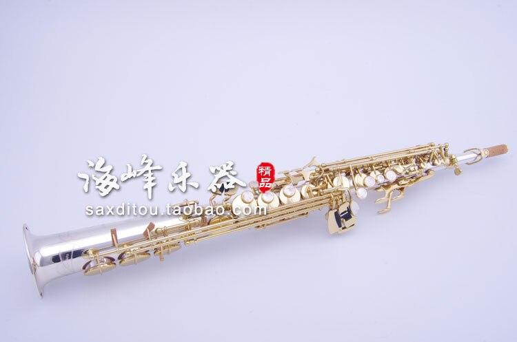 Profesional Japón YANAGISAWA S9930 B (B) Saxofón Soprano instrumentos musicales saxo de Latón chapado en plata con caso boquilla