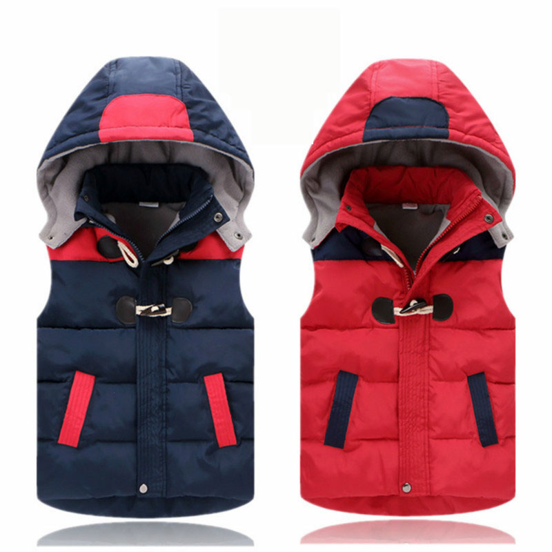 Children winter baby boy cotton Outerwear fashion hooded warm vest girl cotton coat Big fur collar short Parker baby cotton tnlnzhyn women s clothing cotton coat winter new fashion big yards hooded fur collar thickening female cotton outerwear wu21