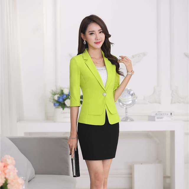Aliexpress.com : Buy Formal Ladies Skirt Suits for Women Work Wear ...