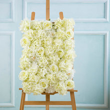 Klonca Luxury Romantic Silk Flower 60*40CM Artificial Rose for Wedding Background Wall Stage Decoration