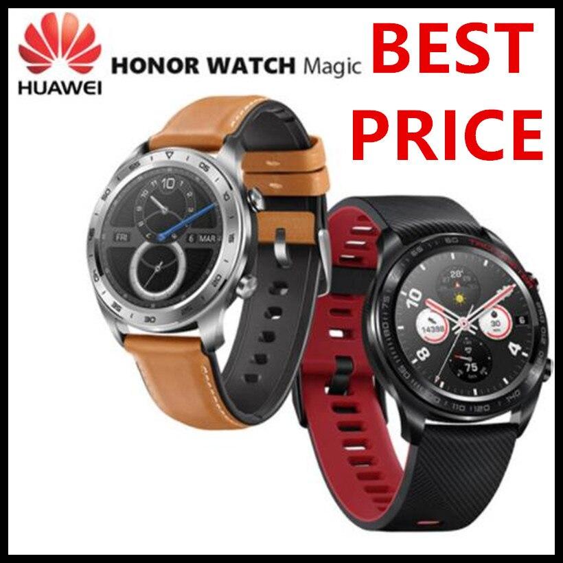Оригинальный huawei Honor Watch Magic открытый Смарт часы sleek тонкий длинный срок службы батареи gps научный тренер Amoled цвет 1,2 390 ^ 2