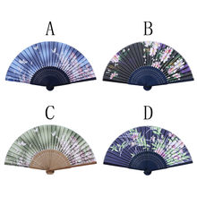 1pcs New Chinese Folding Bamboo Wooden Carved Hand Fan fit Wedding Party Gift 20180813(China)