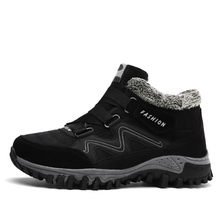 hot deal buy brand men snow boots plus size 45 new men boots with fur unisex winter snow botas warm plush shoes high top boots autumn